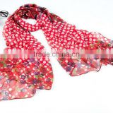 new printing promotional polyester ladies scarf