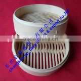 Die cast stone pot bamboo rice steamer