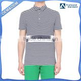 men black and white custom pique striped polo shirt wholesale stylish button up t shirts