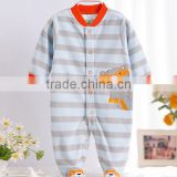2016new baby clothes newborn 100% cotton penguin pattern baby romper long sleeve with toe infants pyjamas import from china
