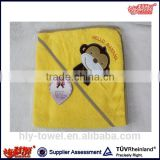 100 cotton terry cute anmial baby hooded towel