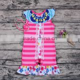 Sue Lucky trendy design baby girl romper with pretty pattern/accept custom order