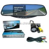 In Car Bluetooth Recorder Rearview Mirror DVR Kits With Reversing Sensors System