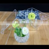 manufactire in custom Clear And Silver Mirror Acrylic Rose Flower Box with Cover Romantic Flower Fresh-keeping Box