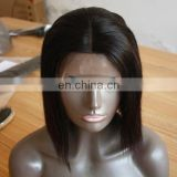 Hot popular virgin hair bob wigs 100% remy human hair full lace wig remy short hair wigs