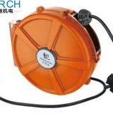 Spring cable loaded auto retractable plastic hose reel automatic hydraulic air cable reel roller