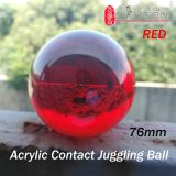 DSJUGGLING 75mm Acrylic Contact Juggling Balls 2.95 inch Red Ball