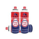 China aerosol container 220g and camping gas cartridge 220g