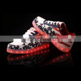 2016 Hot selling Unisex LED shoes sneaker/rechargeaboard running sport casual shoes with colorful led light for adults/children