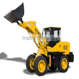 2.5t road construction, chinese mini wheel loader ZL25, mini tractor snow thrower, excavator with single bucket