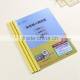 A4 pp file folder with sliding bar, custom plastic file pocket, plastic spring file