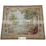Wool Aubusson Wall Hanging Hand Kontted Tapestry