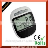 Sport Fintess Step Counter Digital Pocket 3D Pedometer with Tri-Axis Technology, in Black
