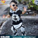 2016 Hot Sale Comfortable Fashion Baby Summer Clothes Boy 100% Cotton Sets Kids Casual Smiling Face Printed Sets