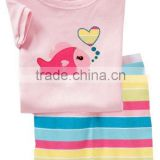 Cute Children PajamasFish Printed Short sleeve Cotton Pajamas