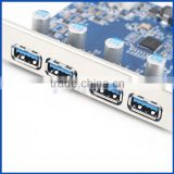 PCI-E Express Adapter 4 Port USB 3.0 HUB Expansion Card for Desktop Computer                                                                         Quality Choice
