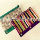 Eco-Friendly Cute colorful zipper silicone pencil bag/silicone pouch for students pencil pouch