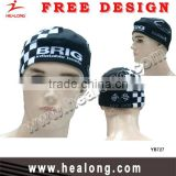 Healong sport black and white sublimation ski toboggan cap