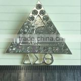 Wholesale vnistar silver and gold delta mental brooch with stones divine jewelry lapel 2016 cheap