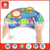 2014 new toys happy pond music table 5 keys castanets small gong drum hammer combinati sale musical instruments