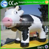 Hot sale inflatable milk cow cartoon model inflatable cow costume for advertising                                                                                                         Supplier's Choice