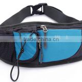 Fashion fanny pack waterproof nylon waist bag With Adjustable Strap and Bottle Holder