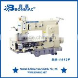 12 Needle Flat Bed Chainstitch Fla-Bed Industrial Sewing Machine BM-1412P
