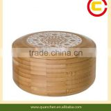 Round shape fashion bamboo box for jewelry                                                                         Quality Choice