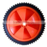 7 inch plastic wheel for garden cart, trolley, baby stroller, lawn mower