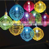 10LED Solar Powered Spiral Ball String light Fairy Lamp Christmas Garden Decoration Heart