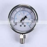 "Durable Light Weight Easy To Read Clear 1.5"" Lead-Free Liquid Filled Digital Oil Pressure Gauge"