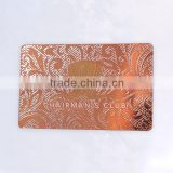 High quality plating rose gold metal business card                                                                                                         Supplier's Choice