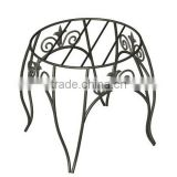 21inch height Wrought iron flower indoor outdoor stand with good qualtiy best price for sale