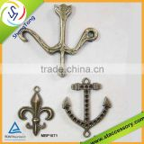 Wholesale alloy charms, anti. brass color charm, bulk bow and arrow charms