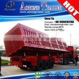 AOTONG brand new 3-axle van type side loading trailer with hydraulic cylinders