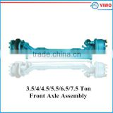 3.5 Ton/4 ton/4.5ton/5.5ton/6.5ton/7.5 ton non-drive disc braked front axle for bus and truck