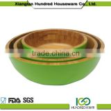 2015 Hot Sale Color Painted Bamboo Salad Bowl, Bamboo Lacquer Bowl, Wood Salad Bowl                                                                         Quality Choice