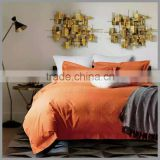 100%cotton orange dyed jacquard bedding sets and comforter cover/classic motif duvet cover and pillow covers /Hotel duvet cover