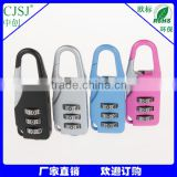 Yiwu Manufacturer many kinds padlock travel bag lock children gift lock with 3 code                                                                         Quality Choice