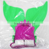 Excellent high quality mermaid tail PP&TPR Material colorful swim monofin for kid swimming FZ01