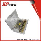 SDPower 12v20a competitive type power supply power box for CCTV market with matel case outside 18 outputs