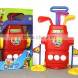 Promotional Plastic Golf Toy set,Fashion Children Golf Play Game Toy,Outdoor Sport Toy