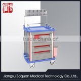 multi-function five drawers aluminum columns with anesthesia stand & storage box ABS anesthesia trolley