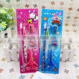 Promotional Customized School Kids 5 Pcs In One Cute Stationary Set