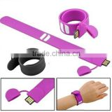 Wristband USB Flash Disk/Hot sale promotional,custom,brand leather usb flash drive 8GB with data ,printing logo service