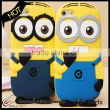 cartoon protective case for samsung s4/s5/s6 Despicable Me Minions mobile case for samsung note3/note4