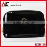 Professional black pu leather cosmetic bag Travel Toiletry Bag cheap wholesale makeup bags
