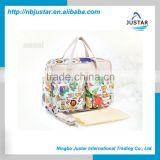 Luxury Fancy Floral Pattern Mom Diaper Tote Bag for Baby