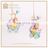 Resin Stroller Baby Boy Shower Decoration Bottle Party Favors