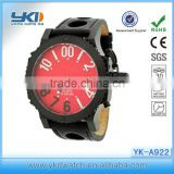 most popular product rubber jelly ion sports bracelet wrist watch &leather men watch